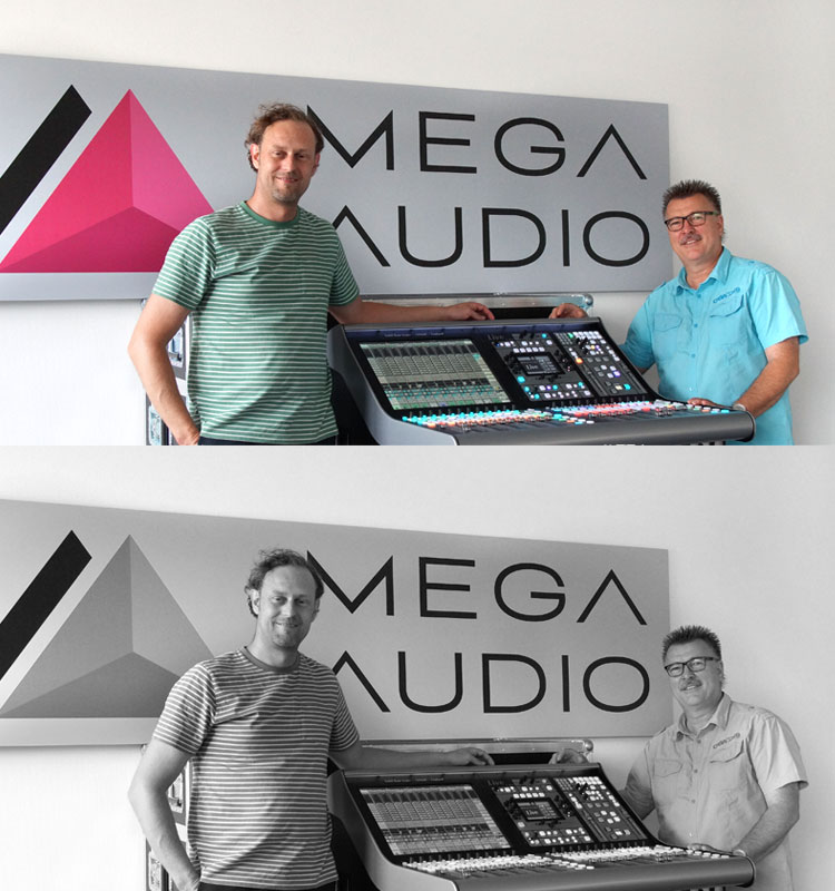 SSL bei Mega Audio
