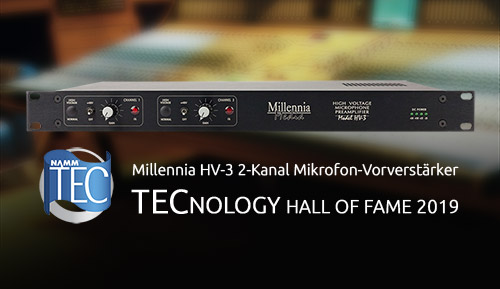 Millennia HV-3 NAMM TECnology Hall of Fame