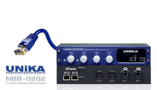 UNiKA NBB-0202 Dante-Audio-Interface Test